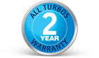 2 year warranty on ALL turbos